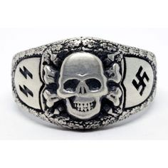 German Nazi SS Sterling silver ring for sale Criminal Tattoo, Ww2 Pictures, Female Soldier, Military Art, Wwii, Jewelry Rings, Sterling Silver Rings, Rings For Men, British Army