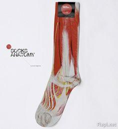 La chaussette «Anatomie du pied» sur http://flepi.net