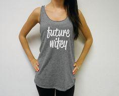 Eco Future Wifey Tank Top. Future Wifey Tank. Mrs by BrideBikini
