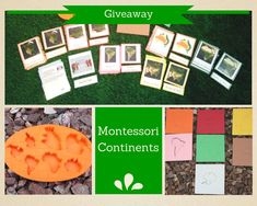 Montessori Continent Giveaway (ends 11/4/14): includes a downloadable set of biome 3-part cards for all the continents (Antarctica is just one biome so you get some physical features 3-part cards), you also get some continent insets in Montessori colors, and a mold of the continents.