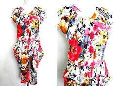floral baggy harem jumpsuit (small to medium) by VintageHomage