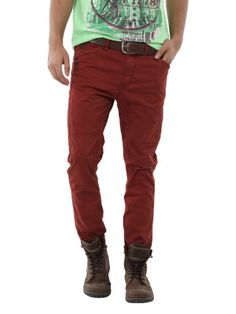 Breakbounce Men Red Wallop Slim Fit Chinos