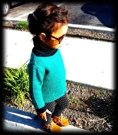 Baby fashion! Polka dot tights and little moccasins!