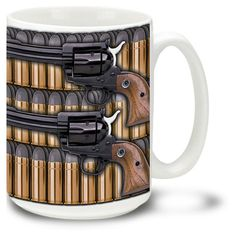 werstern style shooters | Home Military Gun Coffee Mugs Western Style Six Shooter - 15oz. Mug