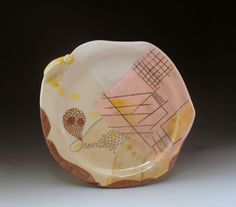 Natural Architecture - porcelain and decals.  Multiple electric firings up to cone 6, 2013. Grace Sheese.