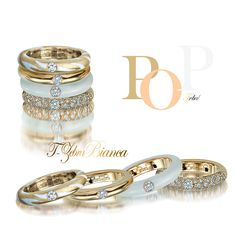 Adolfo Courrier - PopArt inspired 18k gold Tribal rings from the Pop Collection.