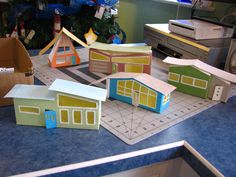 Arts And Crafts Hobbies Christmas Village Houses, Putz Houses, Christmas Villages, Gingerbread Houses, Doll Houses, Modern Christmas, Retro Christmas, Christmas Home, Bohemian Christmas