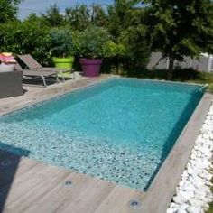 Terrasse fa on ardoise carrelages terrasse pinterest terrasses dallage - Piscine sous terrasse amovible ...