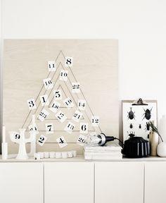 Modern #DIY adventskalender från WEEKDAY CARNIVAL