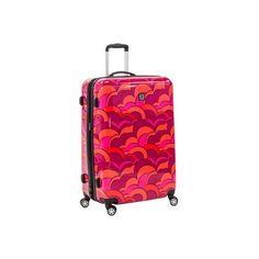 "Women's Ful Sunset 20"" Hardside Spinner Luggage - Orange Hardside... ($140) ❤ liked on Polyvore featuring bags, luggage and orange"