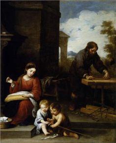 The Holy Family with the Infant St. John the Baptist - Bartolome Esteban Murillo