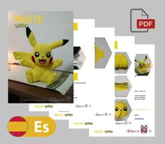 PIKACHU Patrón Amigurumi Español | Etsy Crochet Patterns Amigurumi, Crochet Hooks, Woody, Pikachu Crochet, Pokemon, Catch Em All, Lana, Etsy Shop, Toys
