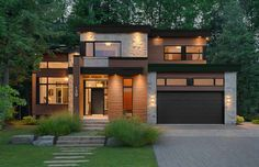 Ideas for modern house exterior contemporary small Modern House Plans, Modern House Design, Modern Contemporary House, Modern Homes, Modern Decor, Facade Design, Exterior Design, Exterior Colors, Modern Architecture House