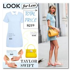 """""""Taylor Swift Look for Less"""" by makingastatement ❤ liked on Polyvore featuring Amalie & Amber, Bandolino and Furla"""