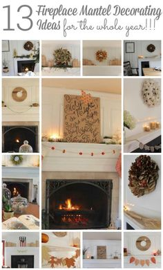 If you are looking for ideas to decorate your fireplace mantel or shelf. Stop by to see my 13 ideas for every month of the year!!!