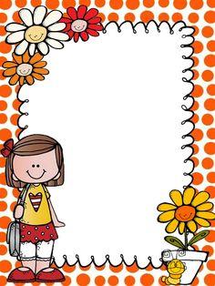 Frame Border Design, Boarder Designs, School Binder Covers, School Border, Boarders And Frames, School Frame, Kids Background, Borders For Paper, Paper Crafts