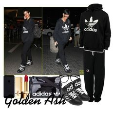 """""""Jeremy Scott XX Adidas"""" by fashionsetstyler ❤ liked on Polyvore featuring NIKE, H&M, adidas Originals and Yves Saint Laurent"""