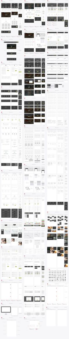 Responsive Website Wireframe Kit by UX Kits on @creativemarket. If you're a user experience professional, listen to The UX Blog Podcast on iTunes.