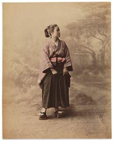 A woman in male attire by Baron Raimund von Stillfried