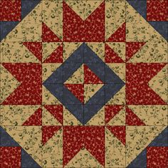 Heartwarming by Pam Buda in Judie Rothermel's Civil War Reproductions. Quiltmaker's 100 Blocks Volume 5; quiltmaker.com/100blocks