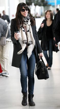 Liv Tyler | love the scarf.