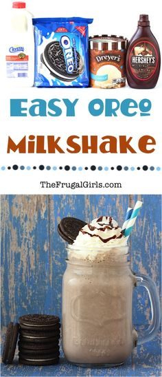 Oreo Milkshake Recipe! ~ from TheFrugalGirls.com ~ satisfy those secret cravings for Oreos with these delicious milkshakes!!  Just 4 ingredients!