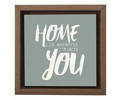 Gravura Digital Home With You - 26X26cm