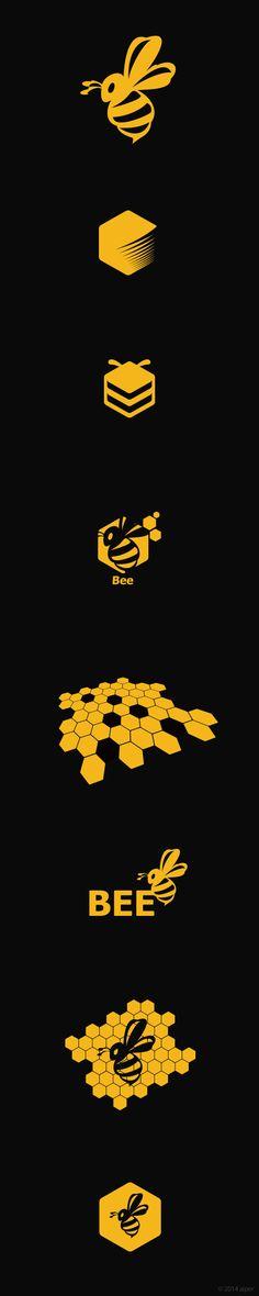 #bee #logo #design #icon #yellow