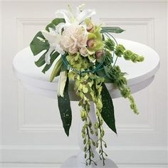 White Lilies, Roses and Orchids Bridal Bouquet