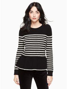 stripe peplum sweater