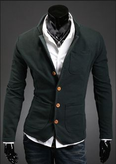 Men's Casual Pocket Blazer with Front Pockets