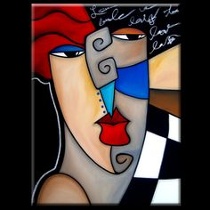 "Artist: Thomas Fedro  Title: ""Poker Face""  Size: 30"" x 40""  Media: Acrylic & Oil Pastel  Support: Stretched Canvas  Created: 2013  Edition: Original  Signed: Front & Back     READY TO HANG!     FREE USA SHIPPING"