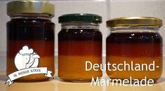 Deutschland Marmelade (EM 2016) - Thermomix® - Rezept von Vanys Küche Salsa, Mason Jars, Food, Youtube, Marmalade Recipe, Meals, Meal, Salsa Music, Restaurant Salsa