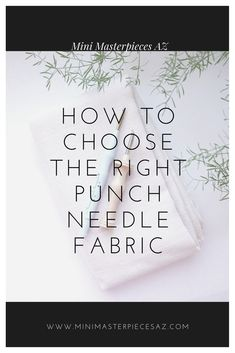 Choose the correct foundation cloth for punch needles There are many options for different punch needles. Find out how to choose he right fabrics for you Rug Hooking, Locker Hooking, Rag Rug Diy, Punch Needle Patterns, Wool Thread, Hand Hooked Rugs, Felt Diy, Punch Art, Embroidery Techniques