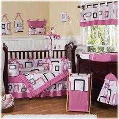 Sweet Jojo Designs Geo Pink 9 Piece Crib Set by Sweet Jojo Designs at BabyEarth.com, $179.99