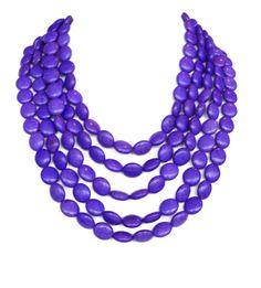 Purple Bridal Necklace  Purple Bib Necklace by WildflowersAndGrace