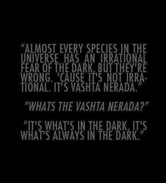 Doctor Who Challenge - Day 4 Favorite Villain: the Vashta Nerada -- They scare the shit out of me.  How do you stay away from shadows and darkness?!