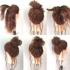 Hair Arrange Lehrbuch ♡ Nice Hair Arrangement Method Matching Your Hair- # pferdeschwanz Arrange Lehrbuch Anata . Work Hairstyles, Pretty Hairstyles, Hair Arrange, Grunge Hair, Hair Dos, Hair Designs, Hair Hacks, Hair Inspiration, Your Hair