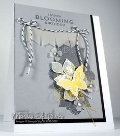 Sunday, November 30, 2014 Kinda Eclectic, Flower Patch, Vellum Banner, Itty Bitty Accents punch pack, Elegant Butterfly