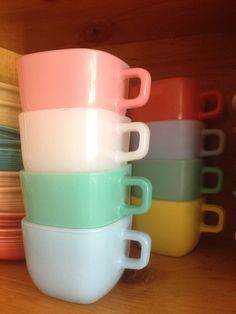 Glasbake Mugs: I have only one...yellow.