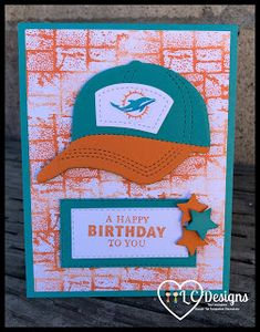 Dolphins Logo, Miami Dolphins, Kids Birthday Cards, Happy Birthday, Cute Cards, Men's Cards, 49ers Fans, Masculine Birthday Cards, Husband Birthday