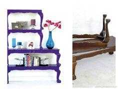 Haz un estantería con tus mesas viejas - http://www.decoora.com/haz-un-estanteria-con-tus-mesas-viejas.html