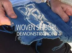 Catharine Ellis: Woven Shibori [Demo] on Vimeo