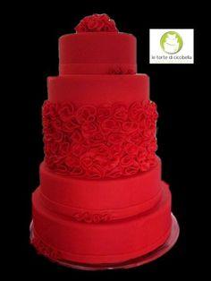 Passion...Red Wedding  Cake by LeTorteDiCiccibella