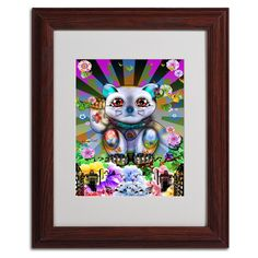 'Lucky Cat City' by Miguel Paredes Framed Graphic Art