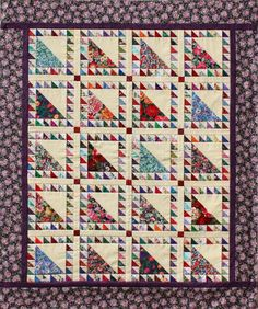 Lady of the Lake by Pat Speth; this website has a few quilt patterns for using up waste triangles