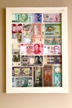 foreign bills make nice art