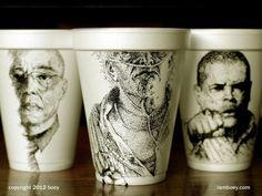 arte em copos