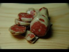 How to Make a Roast  Steak from Polymer Clay for Miniature Dollhouse.  By Garden of Imagination Schinken