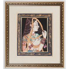 Miniature Painting - Bani Thani Marigold, Arts And Crafts, Miniatures, India, Crafty, Painting, Home Decor, Goa India, Decoration Home